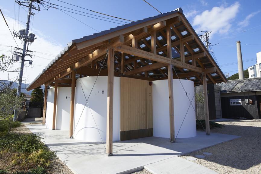 曲面小屋。Hut with Art Wall|小豆島No. sd24。瀨戶內國際藝術祭2019