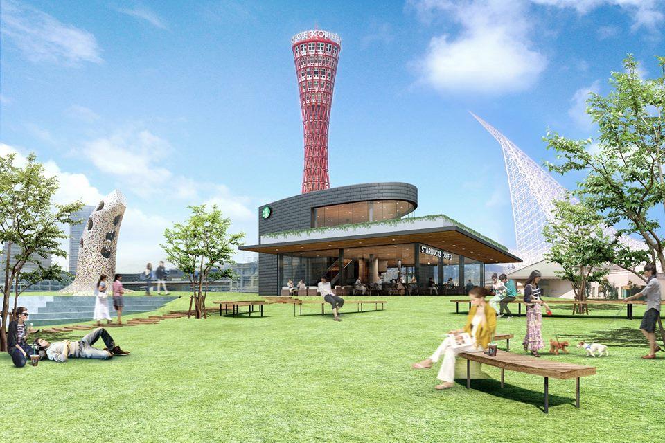 神戶星巴克概念店。美利堅公園|船隻造型咖啡館