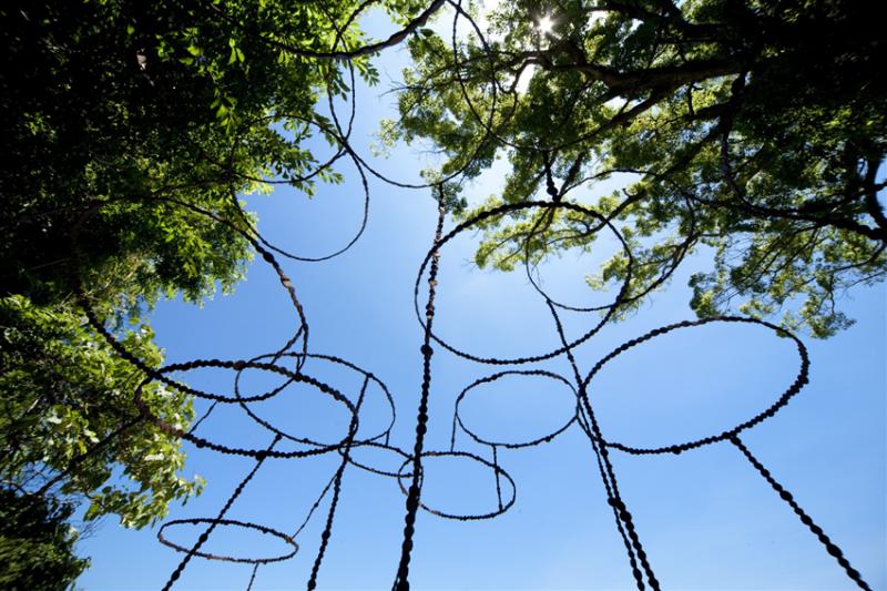 空の粒子。青木野枝|豐島清水神社。唐櫃清水 @瑪格。圖寫生活