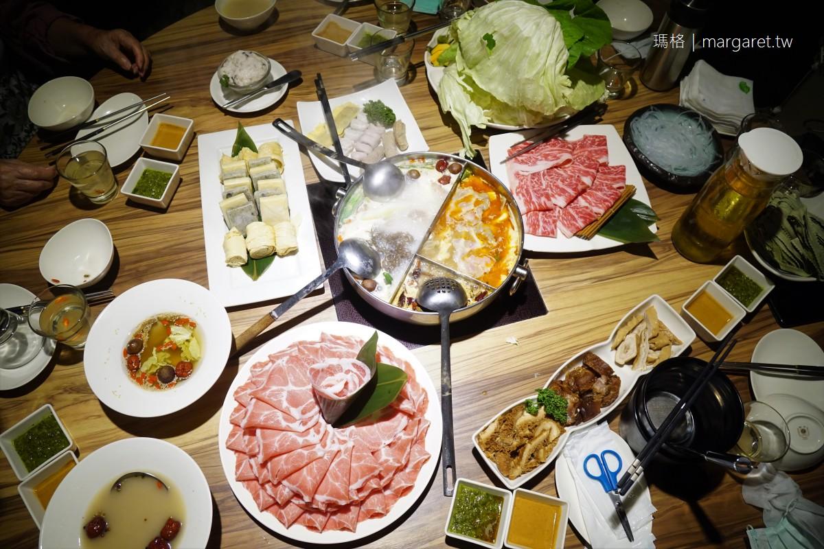 22:02火鍋樂活八德店。壽星幾歲就送幾片肉|新增胡椒鍋、昆布鍋兩種湯底、一款怪味醬