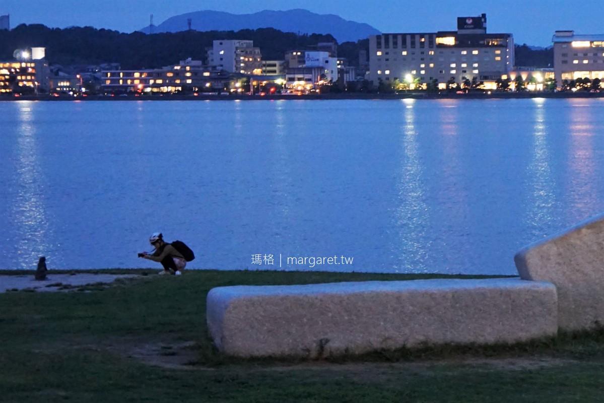 松江市自行車散策|一畑電車、塩見縄手、國寶松江城、島根縣立美術館、宍道湖