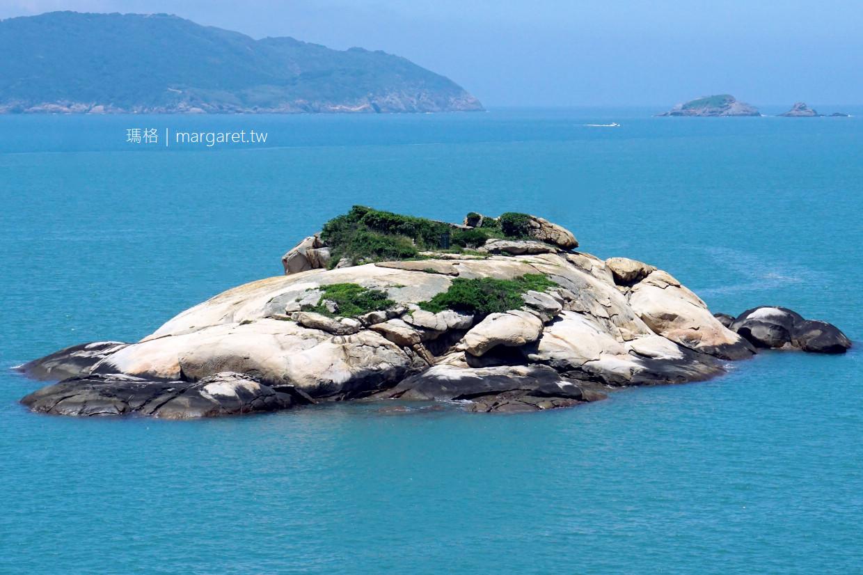 芹壁吉祥物。欣賞龜島的多種視角 算算總共幾隻海龜?