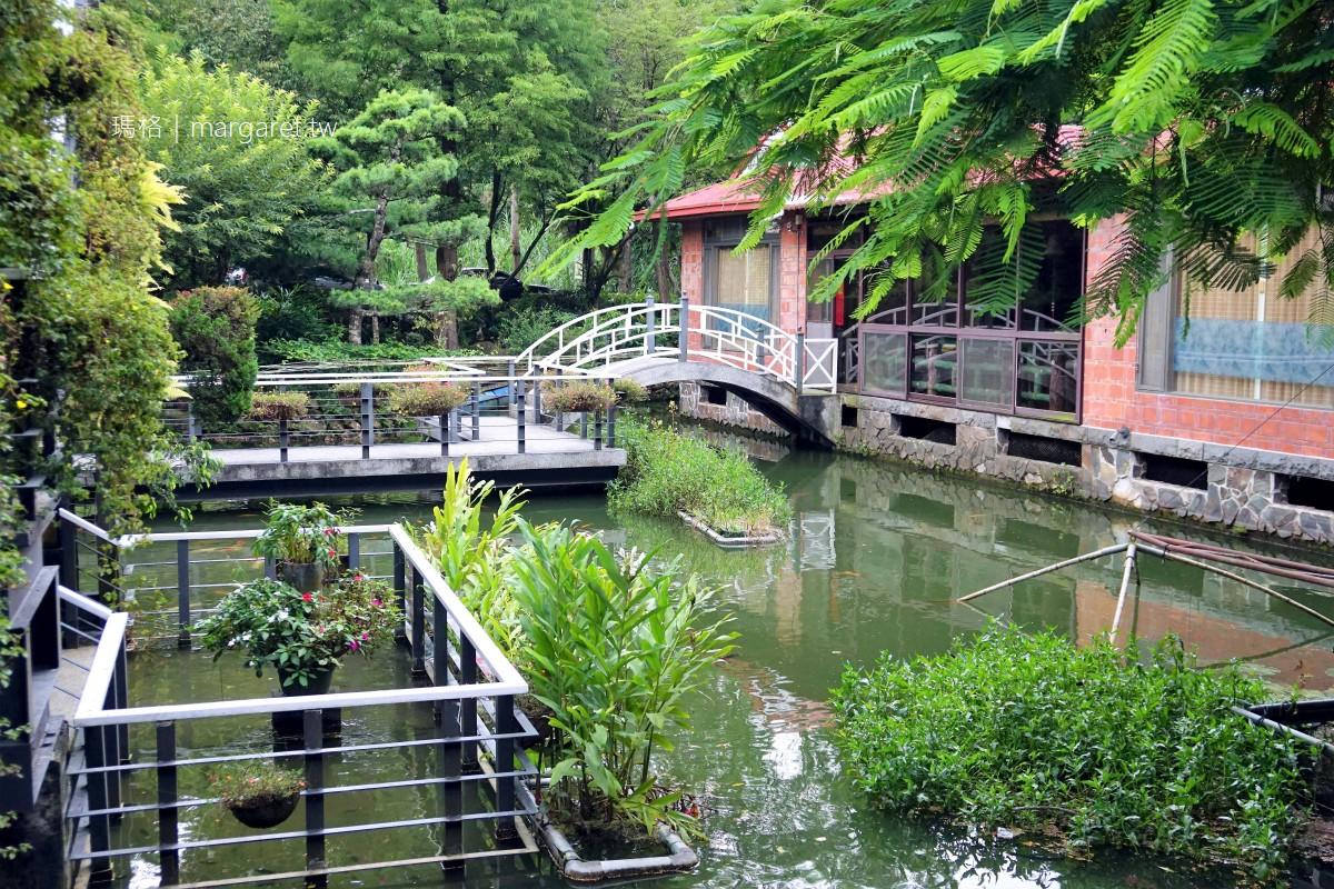 土角厝水上庭園餐廳。傳說的旋轉餐桌|南投桃米社區附近美食