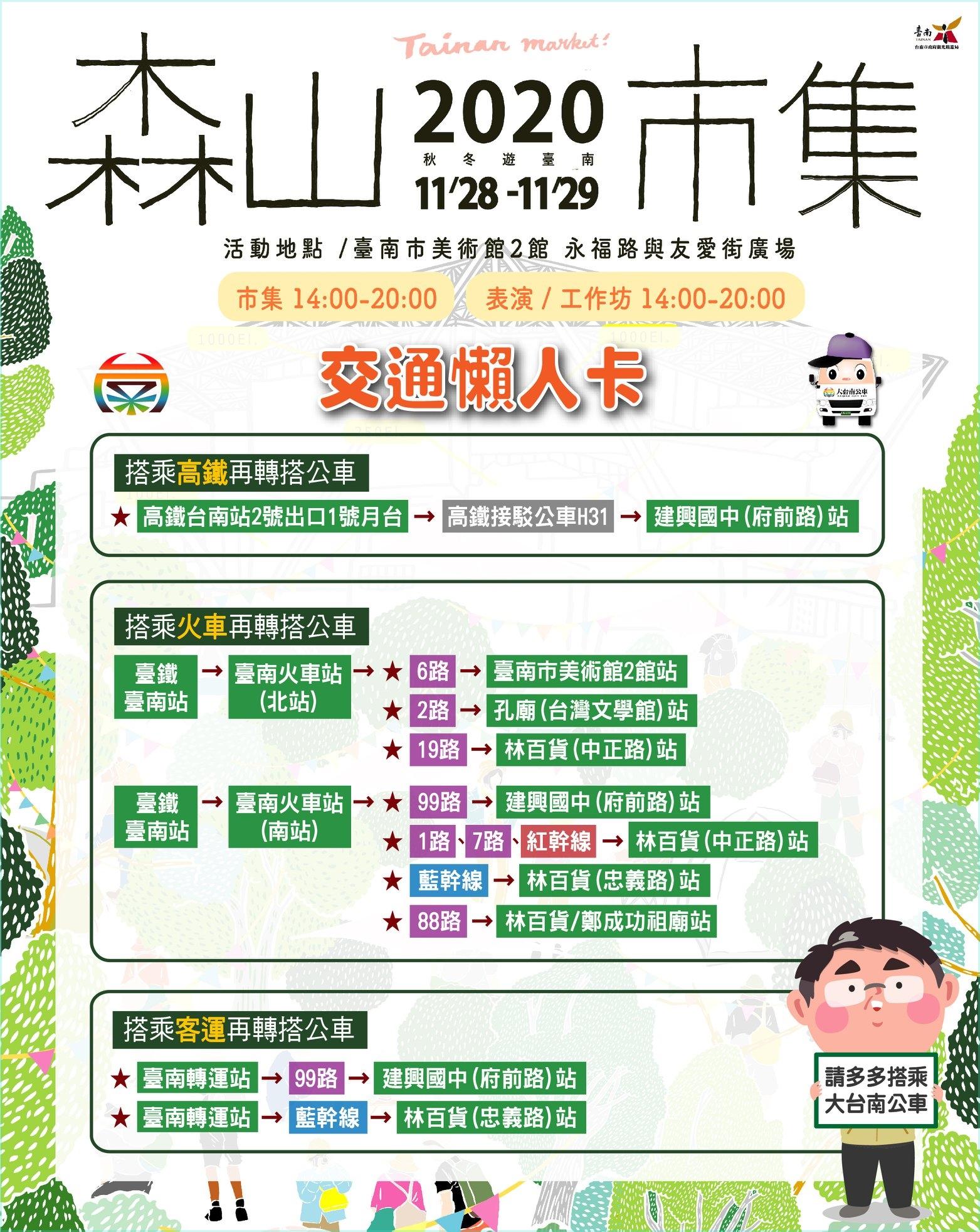 2020森山市集。把美術館變成一座山|11/28、11/29感受台南最美市集的高度