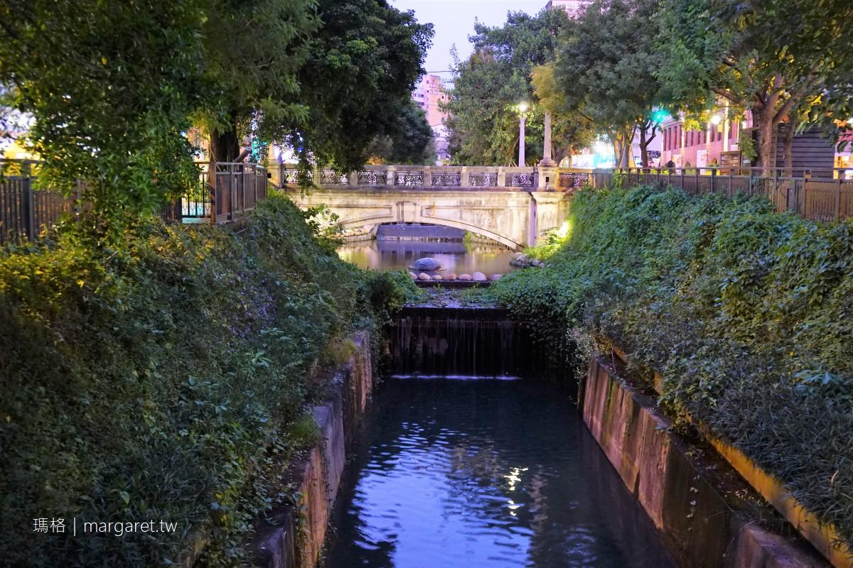 綠川水岸廊道八景。沿著新盛溪散步|台中櫻橋、中山綠橋百年浪漫