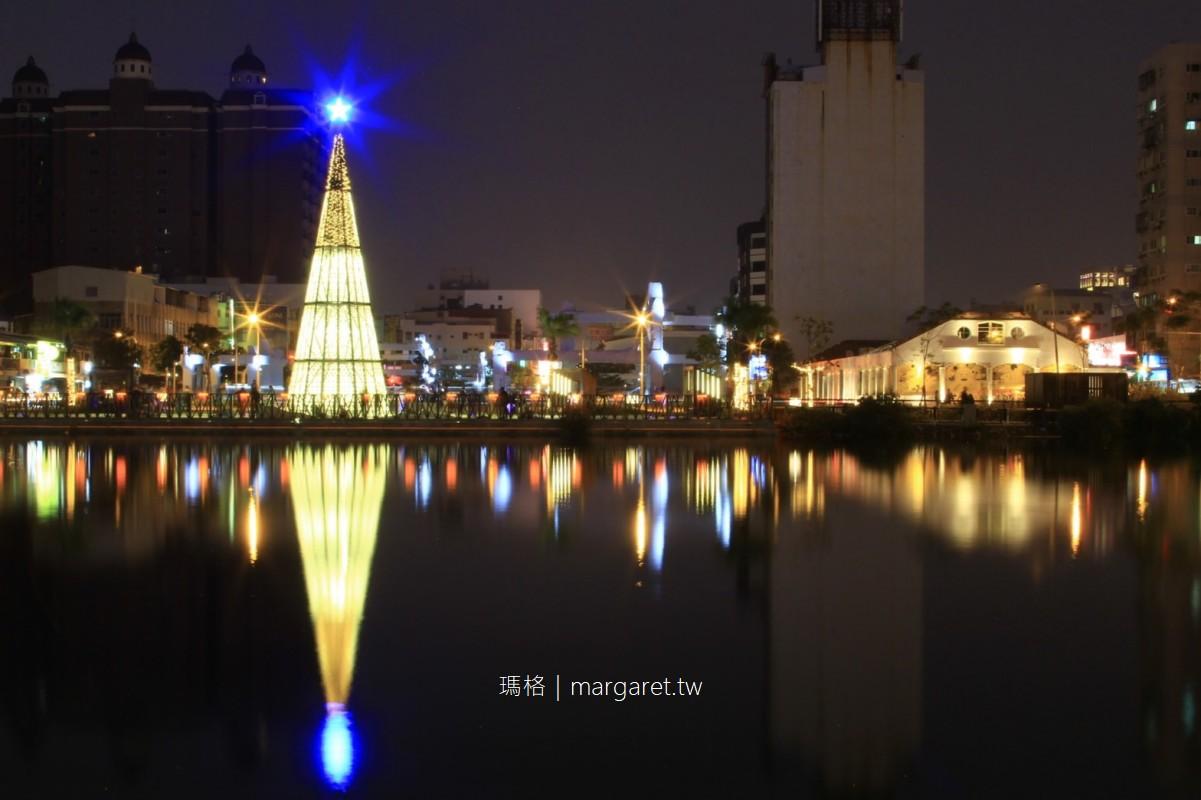 府城聖誕點燈。夜景散步路線|河樂廣場 x 台南舊魚市場  #威宏遊記