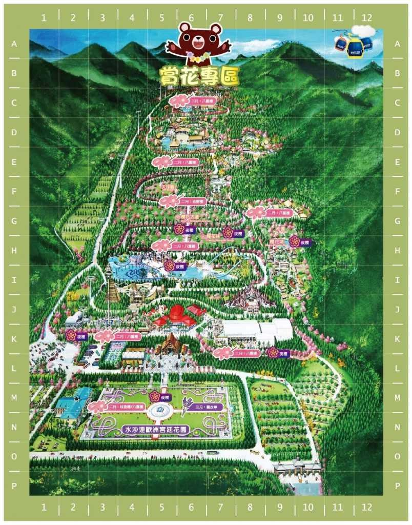 2021九族櫻花祭。2/18八重櫻大爆發|台灣三大櫻花盛景之一