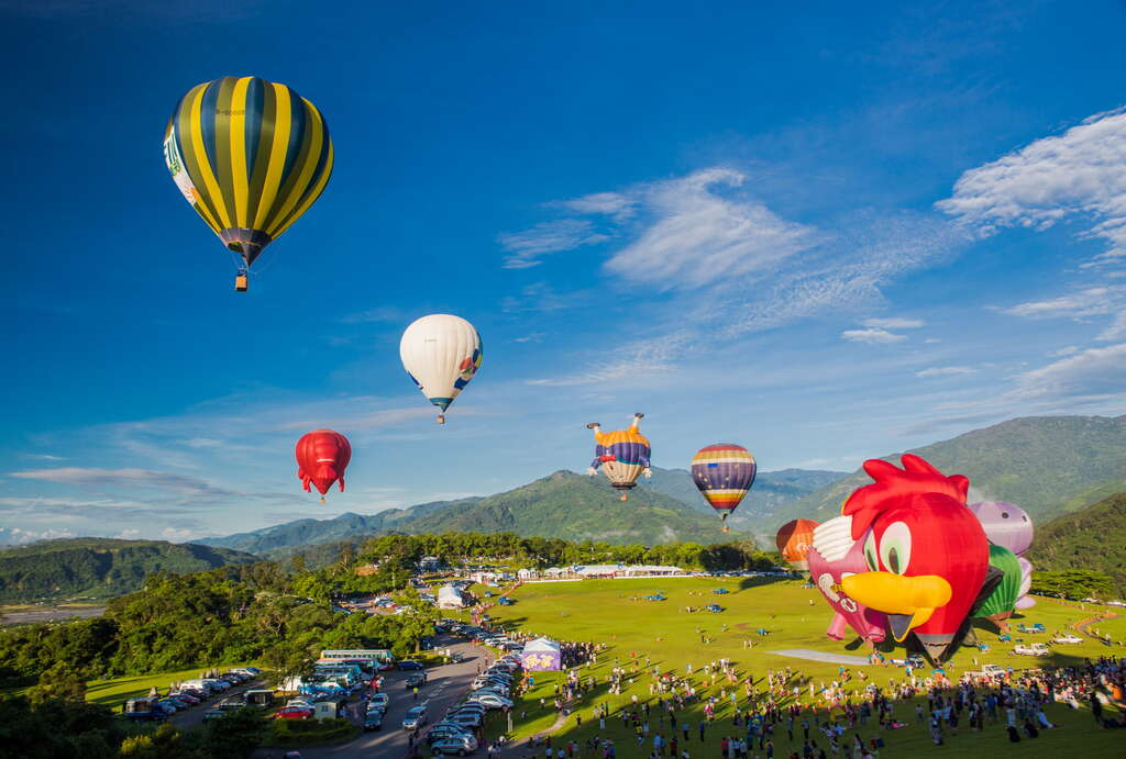 鹿野高台。俯瞰縱谷絕佳位置|在熱氣球升起的地方