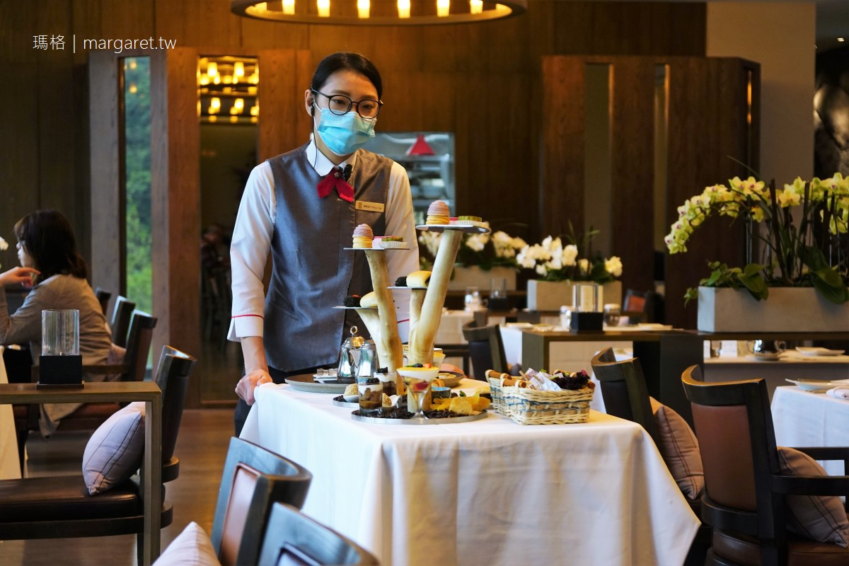 北投麗禧C'est Bon歐陸餐廳。當季晚間套餐|法式下午茶的台灣味。肉圓、珍奶、蔥油餅全上桌