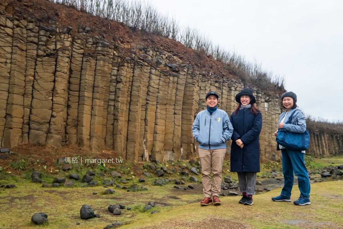 大菓葉柱狀玄武岩。終於一睹壯麗景象|澎湖西嶼地質奇景。交通建議