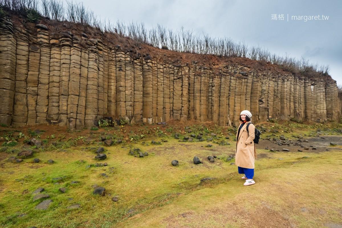 大菓葉柱狀玄武岩。終於一睹壯麗景象|澎湖西嶼地質奇景