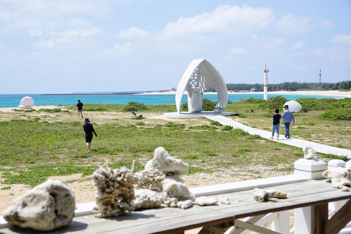白灣景觀餐廳。眼前就是蔚藍海洋與林投金沙灘|貝殼教堂網美熱門打卡點