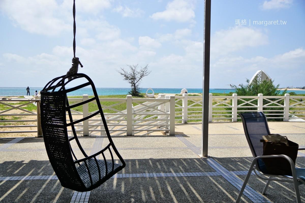 白灣景觀餐廳。眼前就是藍天碧海林投金沙灘|貝殼教堂網美熱門打卡點
