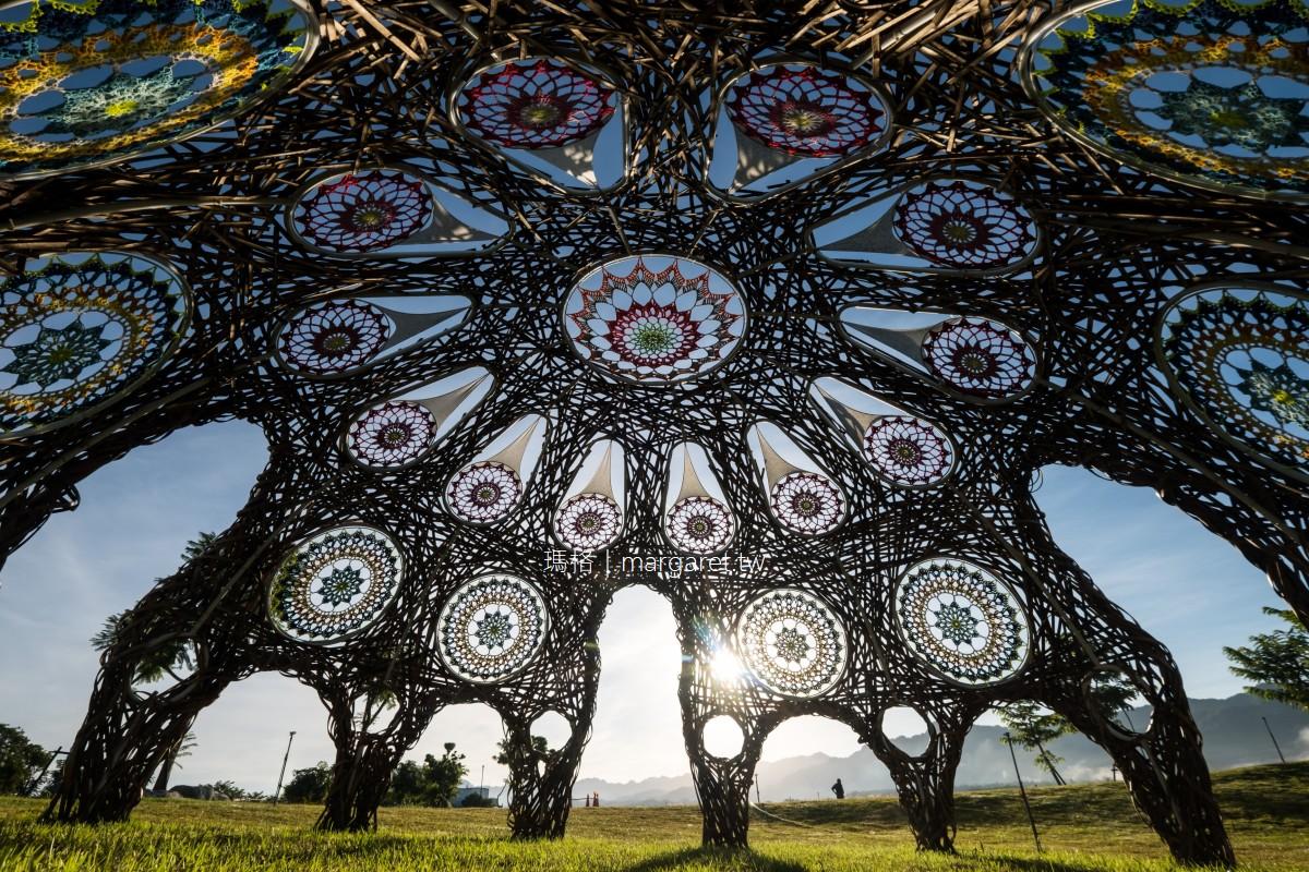 穹頂上有花。鹿野竹編圓頂殿堂的勾織窗花|2021縱谷大地藝術季