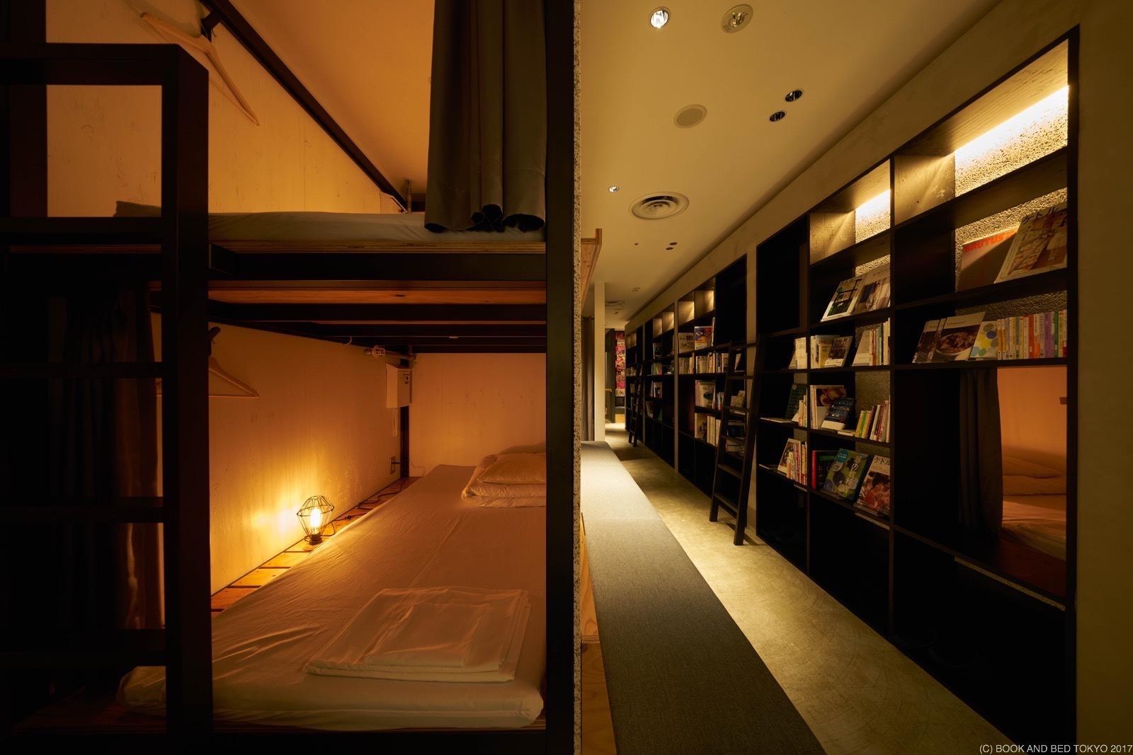 睡書店。東京書香入夢Book and Bed Tokyo|福岡青年旅館|地點絕佳。天神站。PARCO百貨6樓
