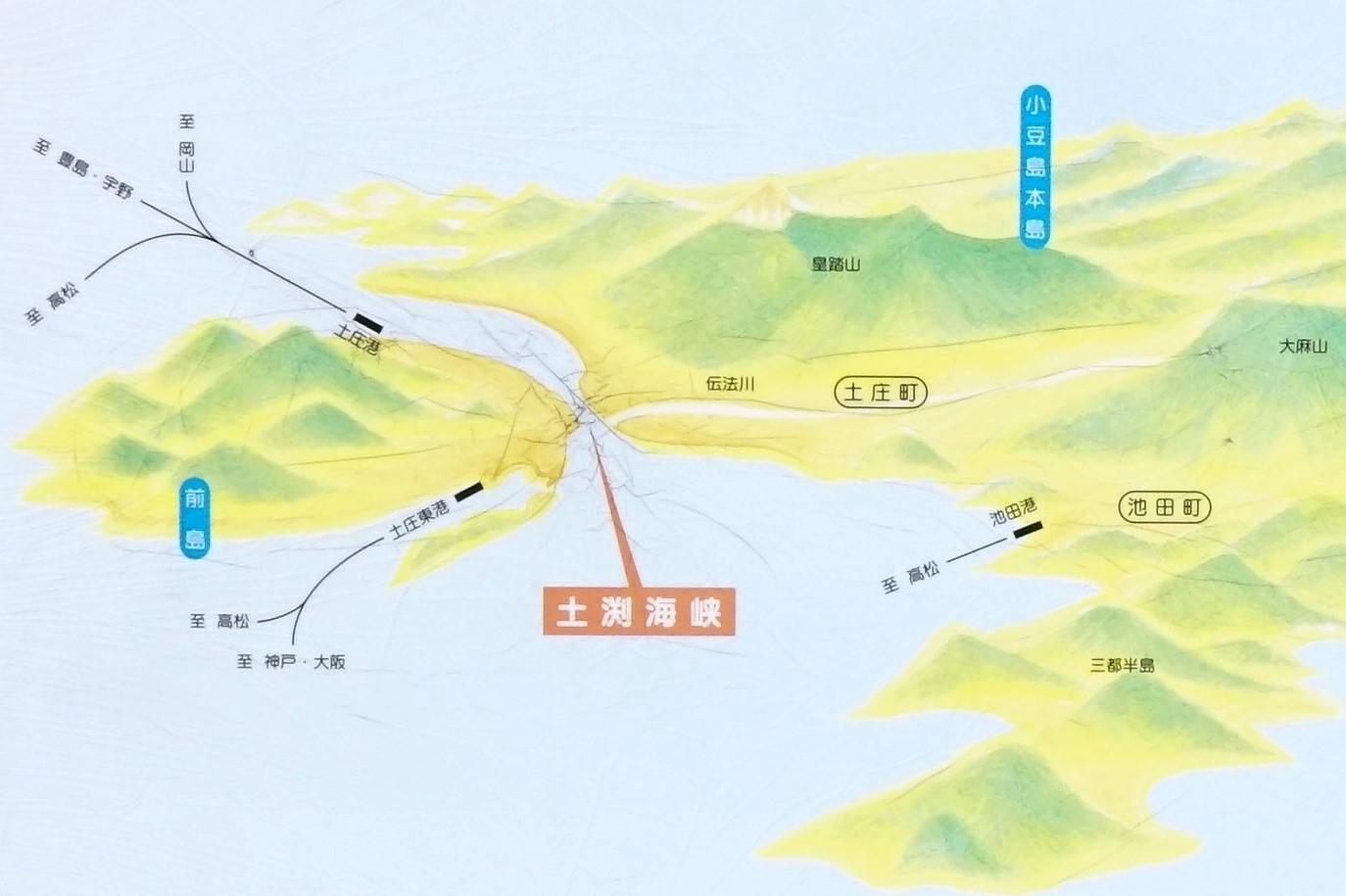 土渕海峡。世界最狹窄海峽|小豆島迷路之町半日遊。美食景點