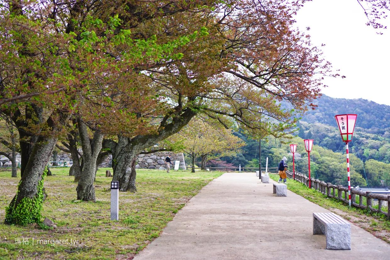 鳥取城跡。久松公園|日本櫻花百選。唯一球型石垣