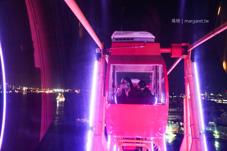 馬賽克廣場摩天輪。臨海樂園|神戶港約會勝地