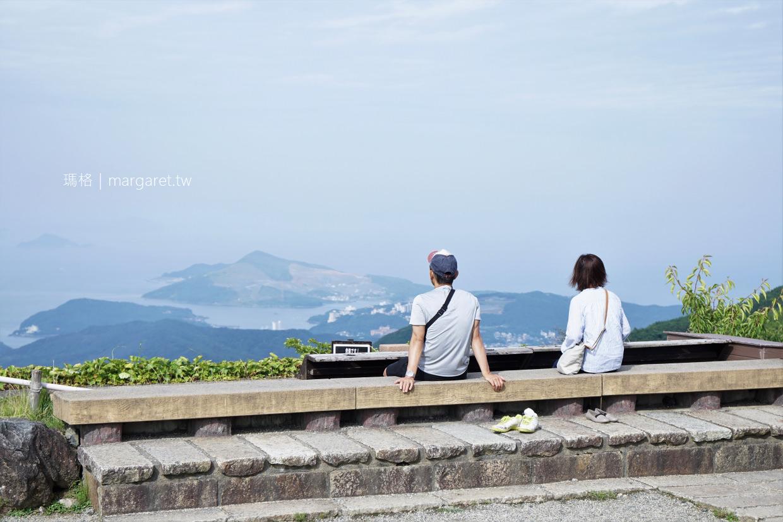 伊勢志摩天空郵筒。天空足湯|朝熊山展望台。日本百景