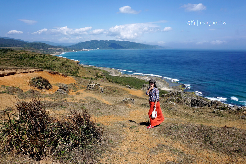 龍磐公園。佳鵝公路美景|全台最壯觀崩崖地形、遼闊草原與太平洋同框 @瑪格。圖寫生活