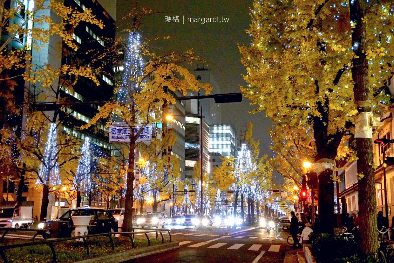 大阪御堂筋彩燈展2019|世界紀錄認證最多彩燈裝飾行道樹的道路 @瑪格。圖寫生活