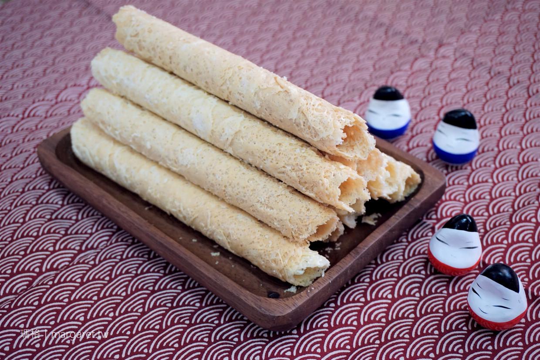 吃不膩的聖塔手工蛋捲。傳承自阿嬤古早味|嘉義伴手禮