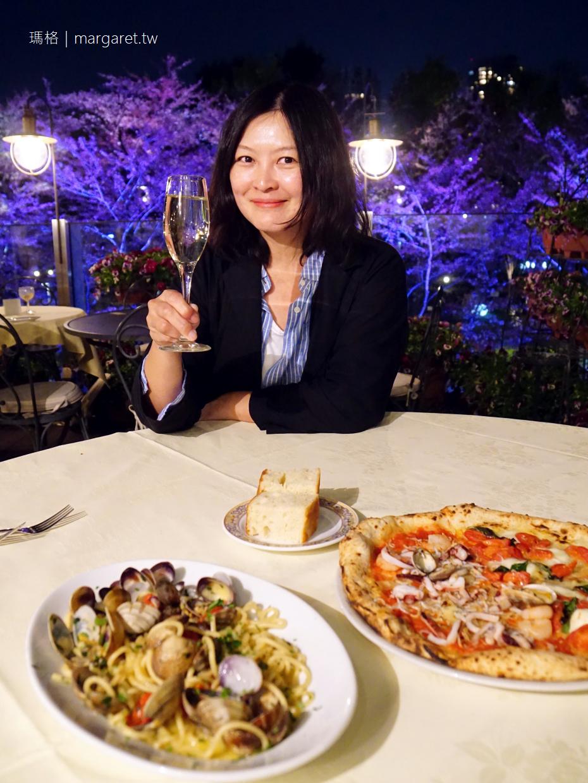 六本木賞櫻餐廳第一排。Pizzeria-Trattoria Napule|被櫻花圍繞的最佳用餐位置 @瑪格。圖寫生活