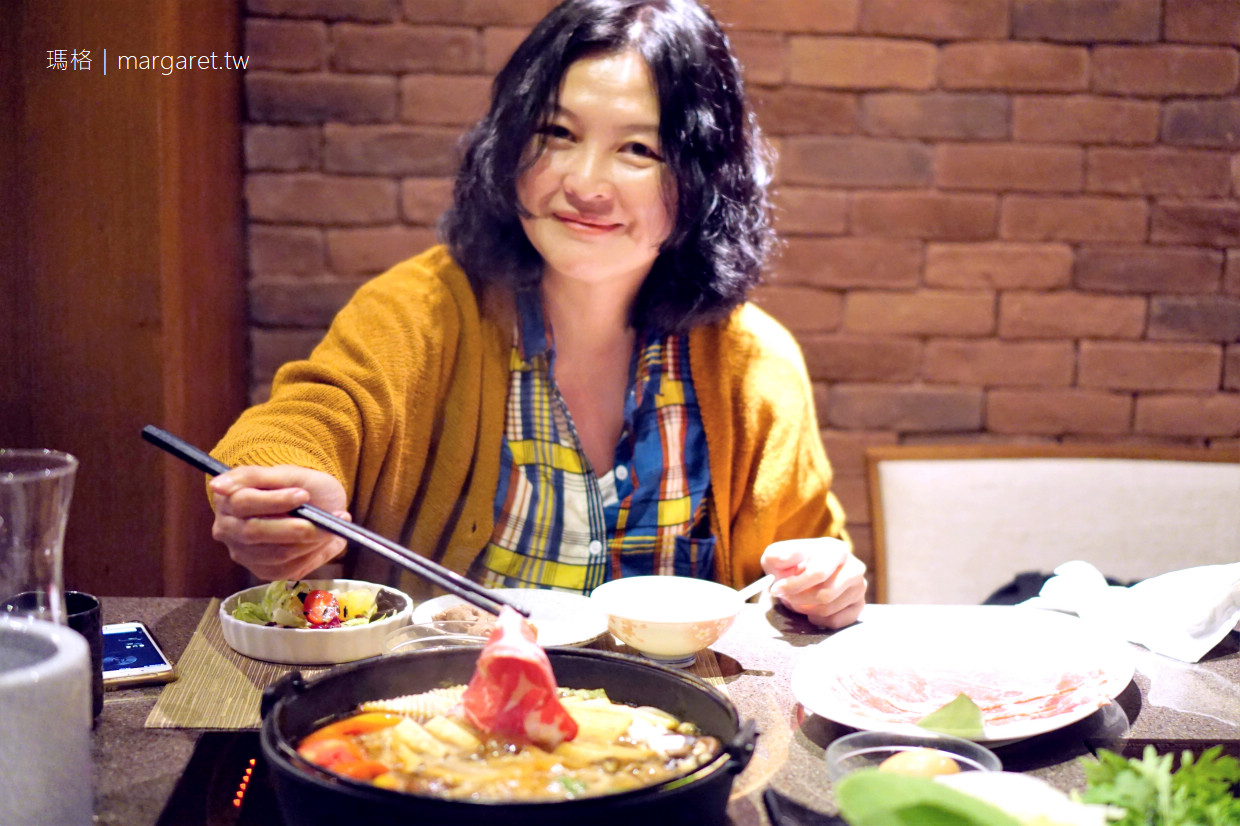 大地酒店月兒彎彎涮涮鍋|北投優質鍋物。二訪吃壽喜燒