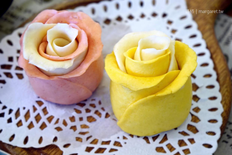 蒸香五彩手工饅頭。台東鹿野|心情因玫瑰饅頭而盛開