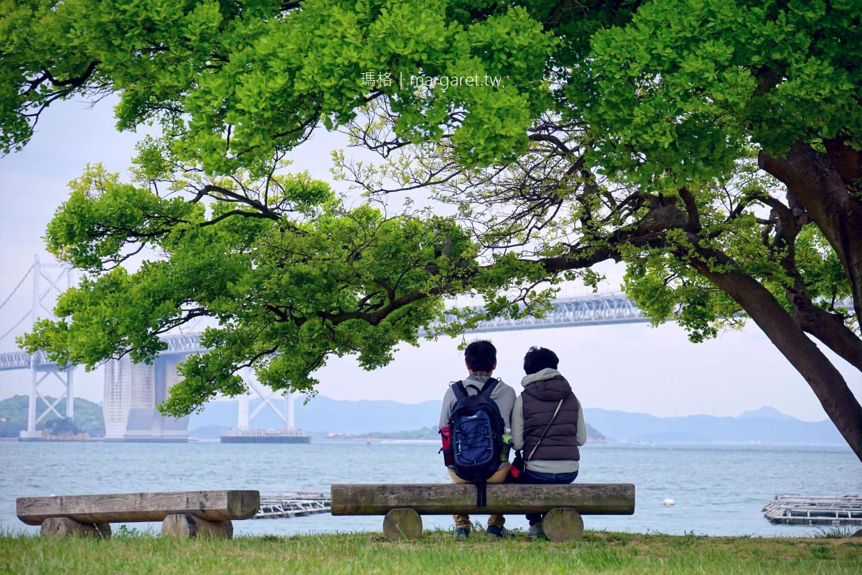 沙彌島半日遊|瀨戶大橋紀念公園。快水浴場百選。萬葉會館|2019瀨戶內國際藝術祭 @瑪格。圖寫生活
