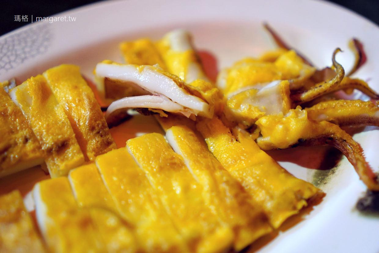 台南松仔腳燒烤海產。銷魂的蛋烤小卷|廟口榕樹下吃熱炒