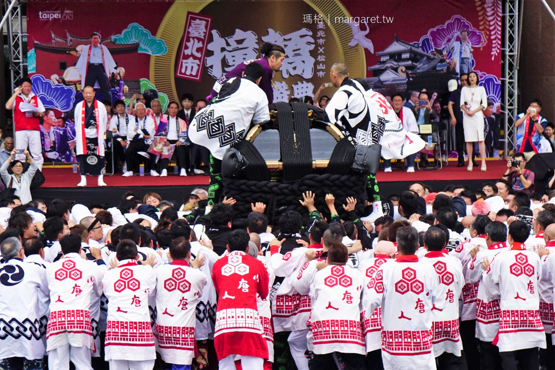 最新推播訊息:最Man日本祭典。大神轎撞轎祈福現身台北街頭