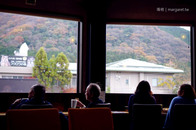 湯之坪咖啡館。Esperanza CAFE|窗外就是由布岳山景 @瑪格。圖寫生活