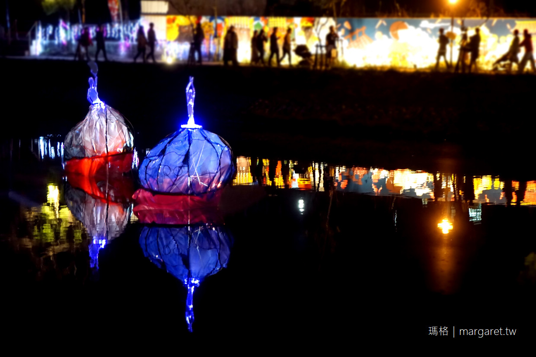 月津港燈節2020。鹽水小鎮光之流水饗宴|高水準台灣藝術盛事。交通建議(2020.1.6更新) @瑪格。圖寫生活