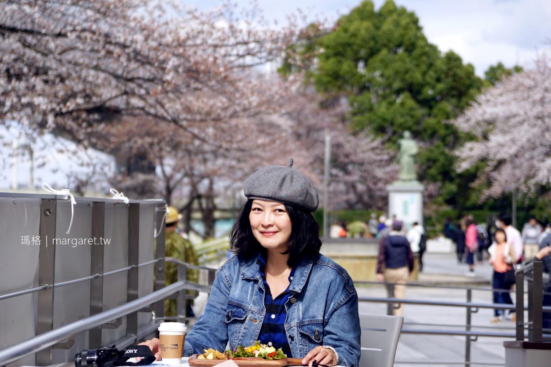 ASICS CONNECTION TOKYO。亞瑟士咖啡|近隅田川、吾妻橋、朝日啤酒大樓|東京賞櫻