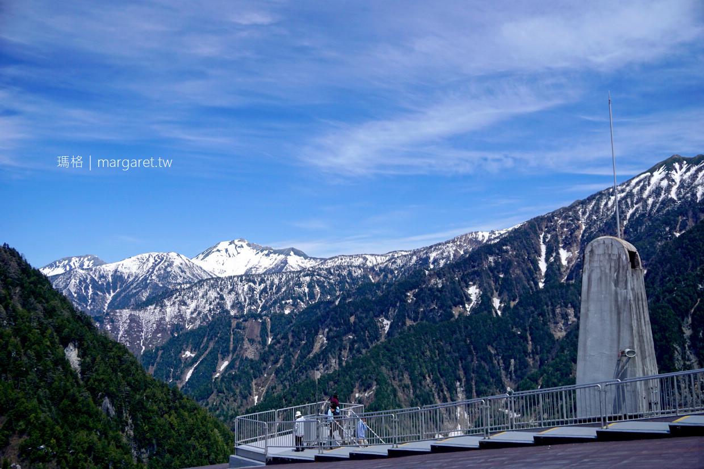 黑部平屋頂展望台。簡直360度環景露天咖啡座|立山空中纜車另一端