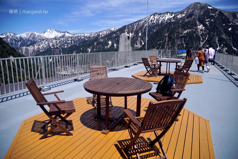 黑部平屋頂展望台。簡直360度環景露天咖啡座|立山空中纜車另一端 @瑪格。圖寫生活