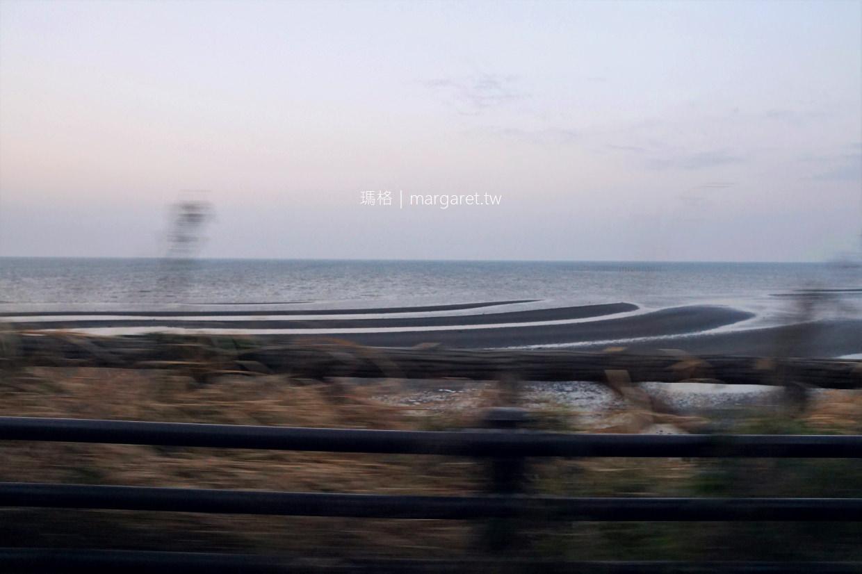 御輿來海岸。波紋砂地夕陽絕景|熊本宇土市秘境。潮汐交通資訊