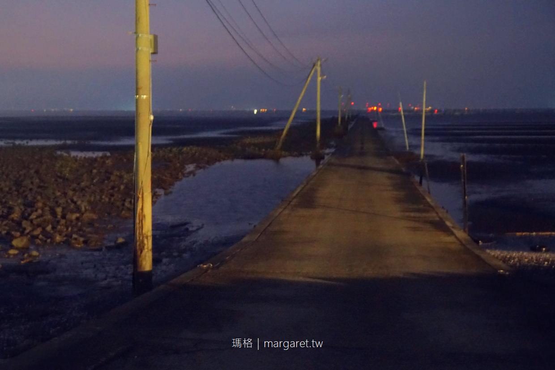 長部田海床路。漲潮剩電線桿的海中公路|熊本宇土市秘境。潮汐與交通資訊