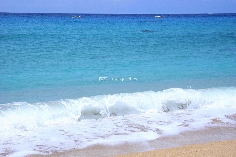 白砂灣。綿延500公尺貝殼砂海岸 亞洲十大度假勝地。少年Pi奇幻漂流電影場景