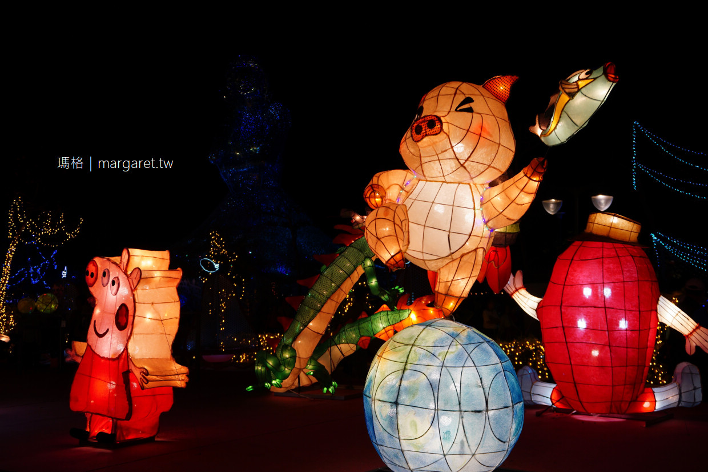 2019台灣燈會在屏東。大鵬灣燈區|最美黃昏時分。花燈、潟湖、海上教堂、跨海大橋與晚霞同框 (交通資訊)