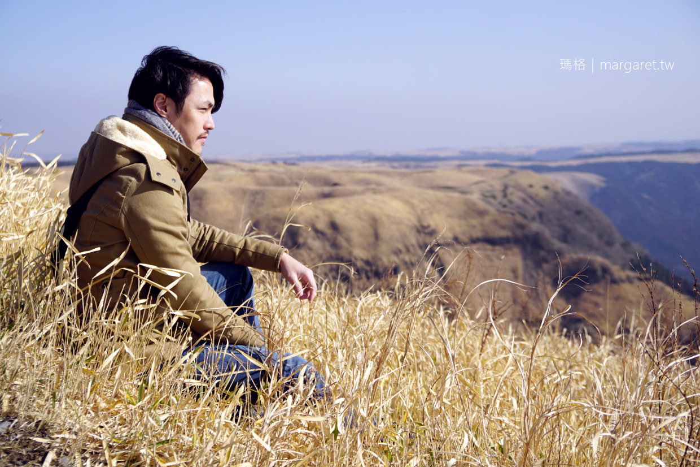 熊本絕景。阿蘇大觀峰|遼闊草原拍個人寫真、落日美景|九州自駕
