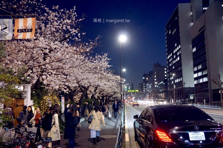 CANAL cafe。外濠公園賞櫻餐廳第一排|櫻花、舟船、電車同框絕景