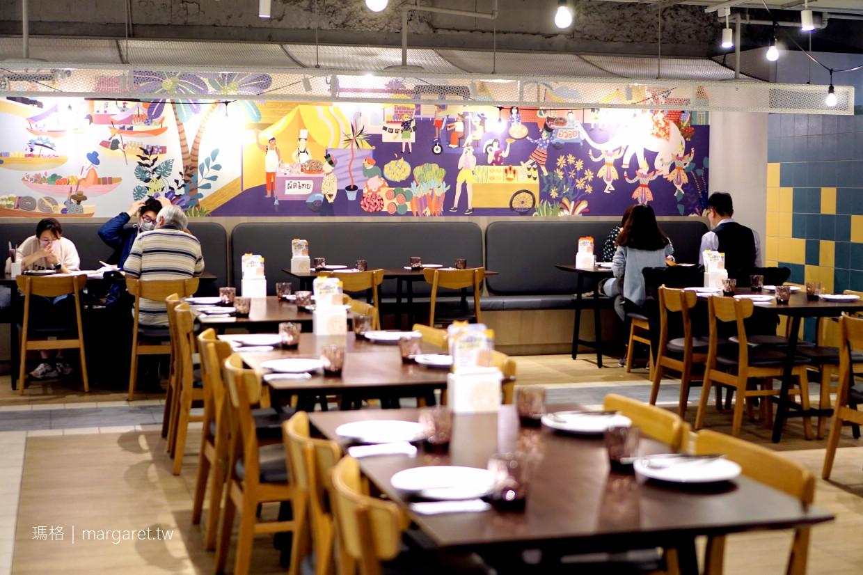 饗泰多Siam More桃園統領店。用餐環境寬敞舒適|經典組合5菜1湯。一桌吃遍泰式料理風味