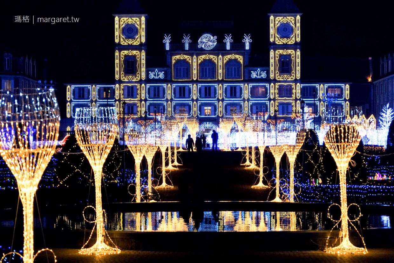 神戶花果公園3D彩燈夢幻迷宮|Kobe Illuminage 2019