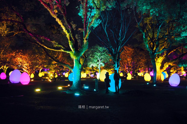 九州冬季祭典。舞鶴公園福岡城光之祭 Light Festival in Fukuoka Castle Ruins 2017~2018 @瑪格。圖寫生活