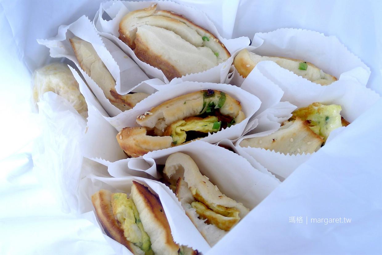 阜杭豆漿招牌厚餅夾蛋。最誇張的排隊美食|2020台北米其林必比登推薦